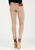 G Couture - Nazley Zip Trim Ponte Leggings Camel