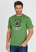JEEP - S/S Applique/ Emb/Print Tee Green