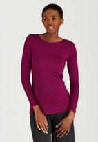 edit Maternity - Double Layer Feeding T-shirt Mid Purple