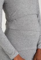 edit Maternity - Double Layer Feeding T-shirt Grey