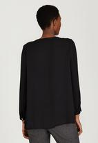 edit Maternity - Front Pleat Blouse Black