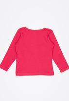 Luke & Lola - Printed Long Sleeve Tee Dark Pink
