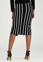 Dusud - Mixed Stripe Skirt Black and White