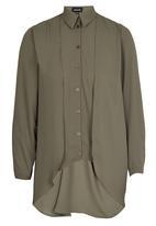 c(inch) - High Low Shirt Mid Green
