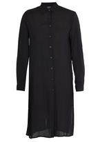 c(inch) - Split Back Longer Length Shirt Black