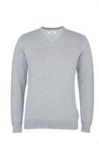 Ben Sherman - V-neck Knitwear Grey