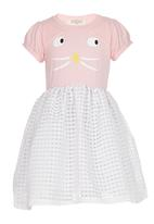 POP CANDY - Girls Kitty Pink  Dress Pale Pink