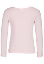 Rebel Republic - Printed Long Sleeve Tee Mid Pink