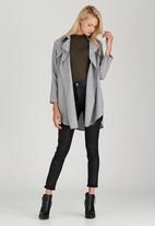 Suzanne Betro - Oversized Casual Shirt Grey
