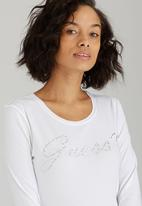 GUESS - Chain Logo Tee White
