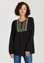 G Couture - Boho Tunic Black