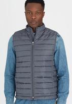 STYLE REPUBLIC - Sleeveless Puffer Jacket Dark Grey