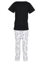 POP CANDY - Milk De La Milk   Pj Set Black and White