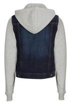 Rebel Republic - Hooded Denim Jacket Dark Blue