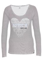 Rip Curl - Heart of SA Striped Tee Black and White
