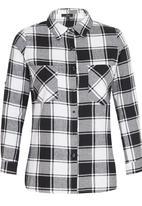 Suzanne Betro - Plaid Shirt Black and White