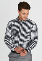 Brooksfield - Semi Formal Cut Away Collar Shirt Black