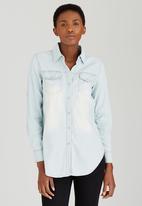 Suzanne Betro - Denim Shirt Pale Blue