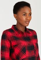 Suzanne Betro - Plaid Shirt Red