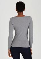GUESS - Ombre Embellished Tee Dark Grey