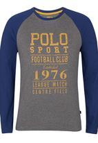 Polo Sport - Heritage Raglan T-Shirt Dark Grey