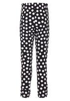 POP CANDY - Polka Dot  Legging Black and White