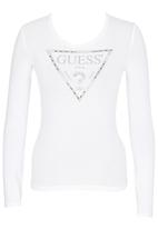 GUESS - Pearl and Chain Triangle Tee White