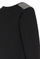 Rebel Republic - Quilted Fleece Sweater Black