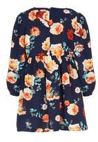 POP CANDY - Girls Flower Dress Navy