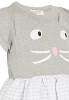 POP CANDY - Girls Kitty Dress Grey