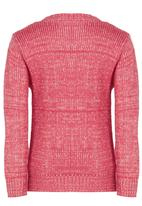 See-Saw - Cable Knit Mid Pink