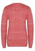 Rebel Republic - Cable Knit Jersey with Lurex Mid Pink