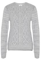 Rebel Republic - Cable Knit Jersey Grey