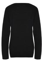 Rebel Republic - Cable Knit Jersey with Lurex Black