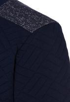 Rebel Republic - Quilted Fleece Sweater Navy