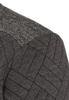 Rebel Republic - Quilted Fleece Sweater Grey Melange