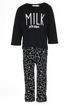 POP CANDY - Milk Please  Pj Set Black and White