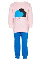 POP CANDY - Cloudy Track Top and Pant Mid Pink