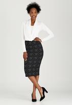 edit - Printed Knit Skirt Black and Grey