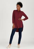 edit - Longer Length Shirt Dark Red