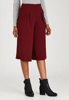 STYLE REPUBLIC - Wide Leg Culottes Dark Red