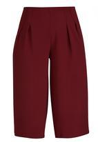 STYLE REPUBLIC - Wide Leg Culottes Dark Red