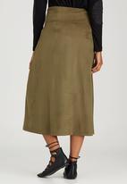 Slick - Beth Suede-like Skirt Khaki Green