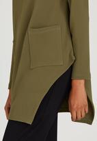 Slick - Natalie 2 Pocket Tunic Khaki Green