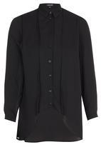 c(inch) - High Low Shirt Black
