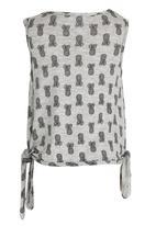 See-Saw - Side Tie Top Grey