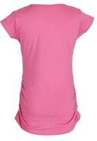GUESS - Cinched Side Logo Tee Mid Pink