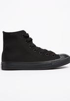 SOVIET - Viper Hi Cut Mono Sneaker Black