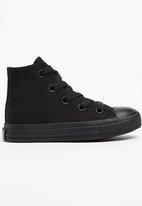 SOVIET - Viper hi cut canvas sneaker - black mono