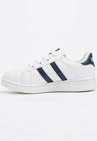 SOVIET - Sneaker With Stripe Detail White